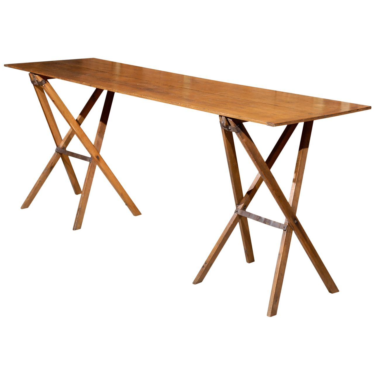 Unusual Folding Campaign Console Table.   From A Unique Collection Of  Antique And Modern Tables