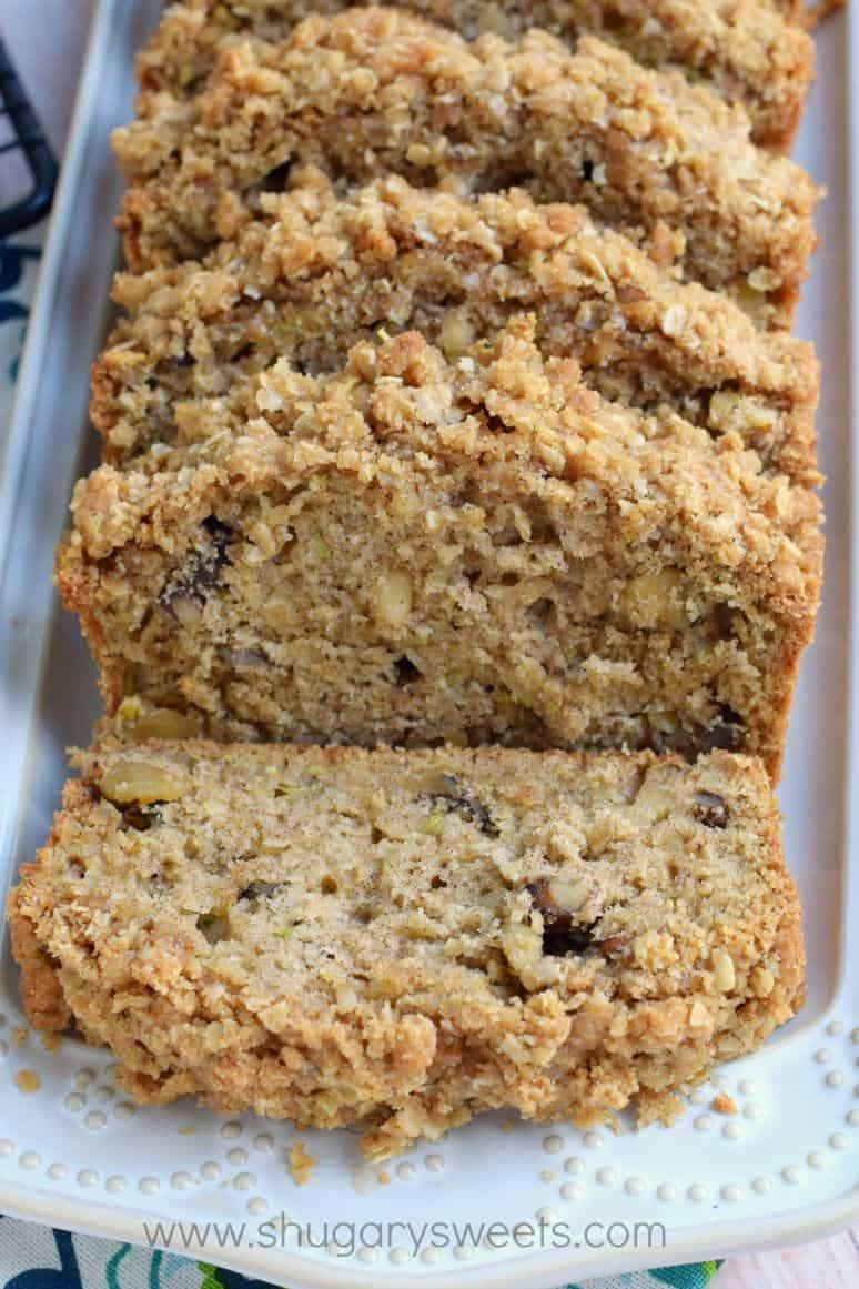 this crunchy streusel zucchini bread is chock full of