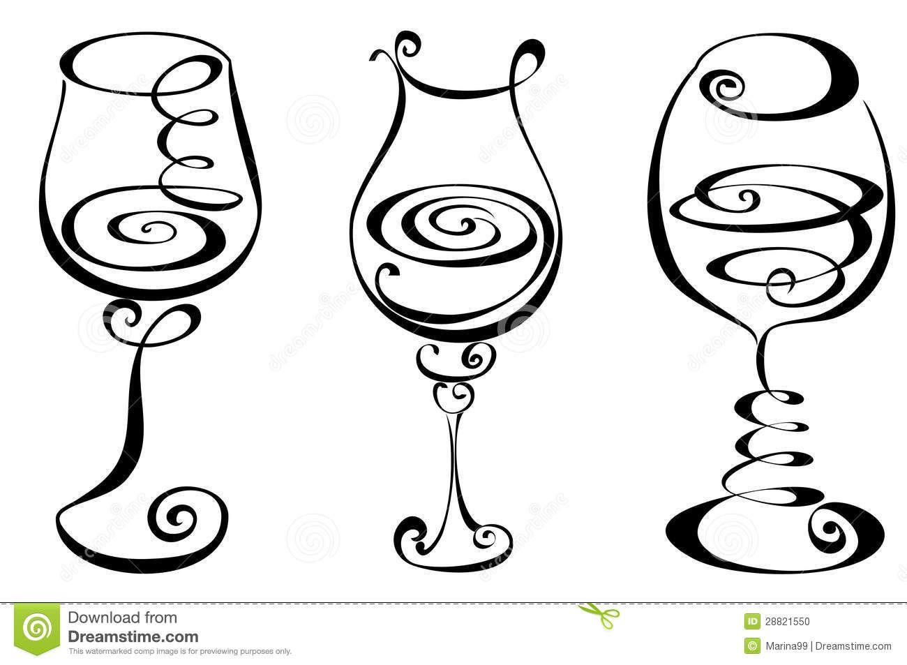 wine glass clip arts