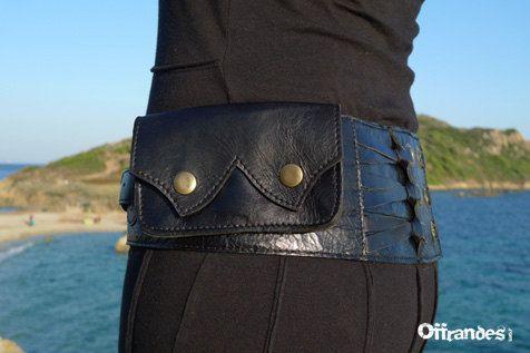 Utility Leather Hip Belt BaG   MEDINA   BLACK by offrandes on Etsy, $120.00