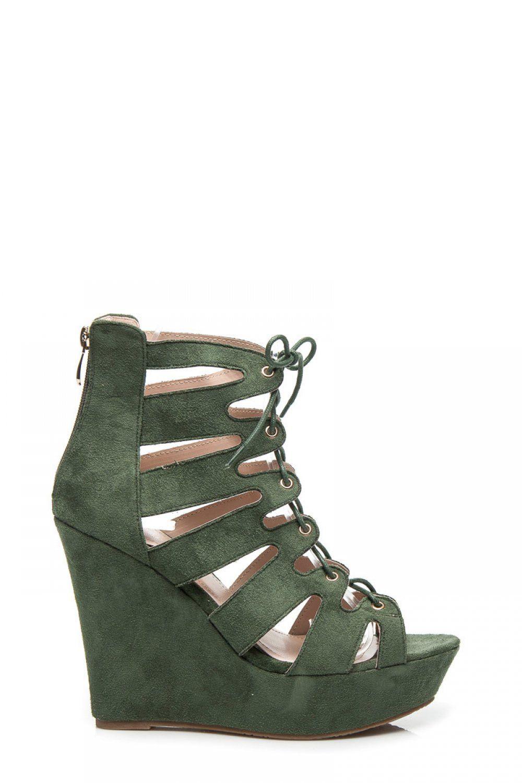 7a23cfb75d3b2 Sandal RZYMIANKI NA KOTURNIE Zielony - Zoki. Size Insole lenght 35 23 cm 36  23.5 cm 37 24 cm 38 24.5 cm 39 25 cm 40 26 cm 41 26.5 cm