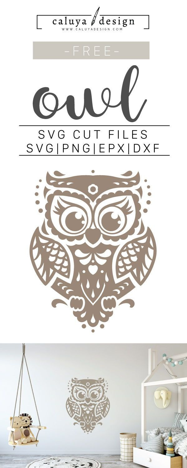 Free Owl SVG, PNG, EPS & DXF by Caluya Design #cricutcrafts