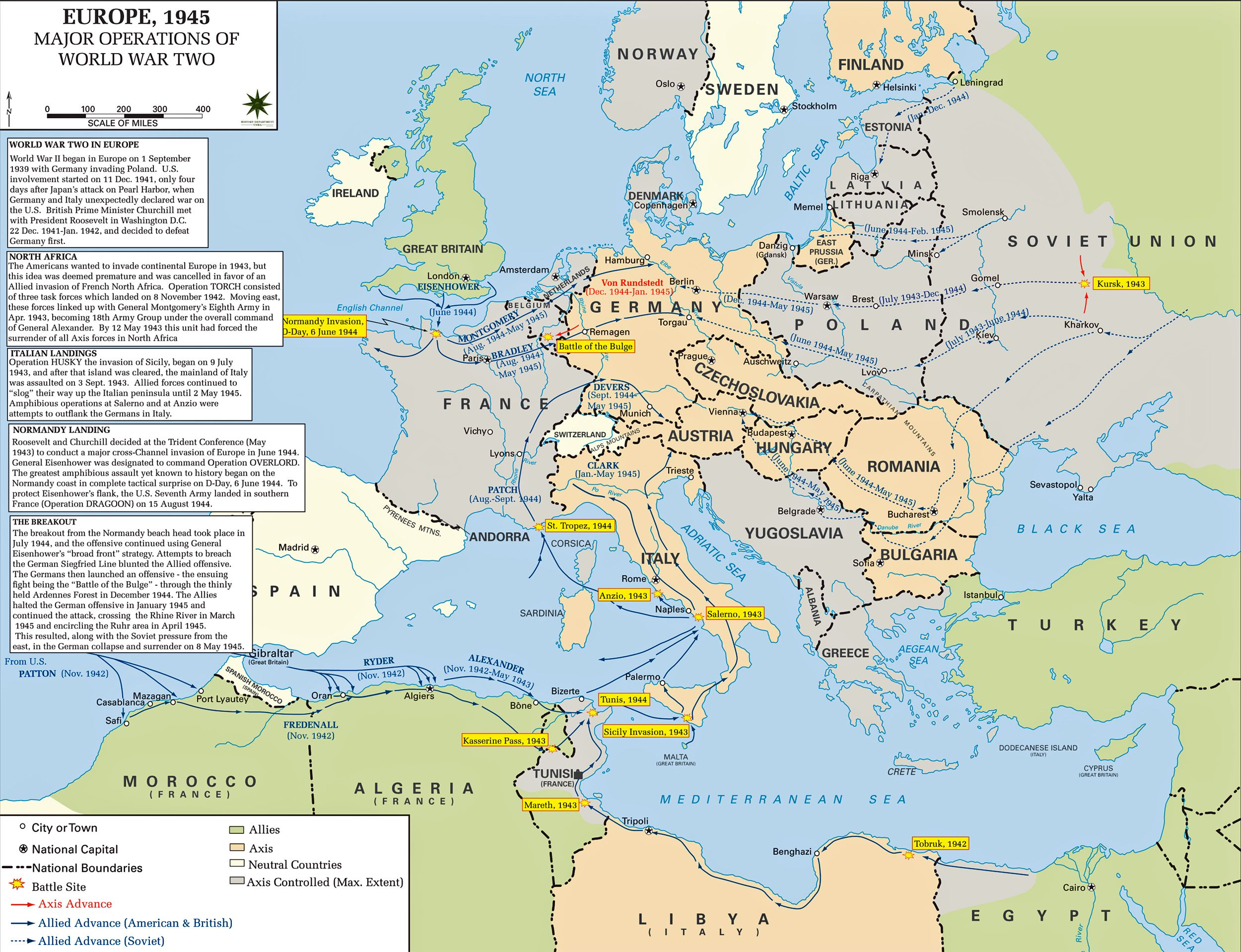 Map Of Wwii