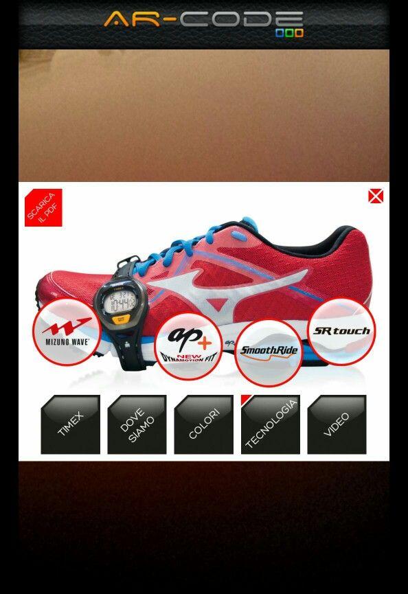 Scopri i contenuti interattivi della nuova  campagna Mizuno Wave Ultima 6. Scarica l'app gratuita Input-AR sul tuo smartphone e inquadra il Flyer.