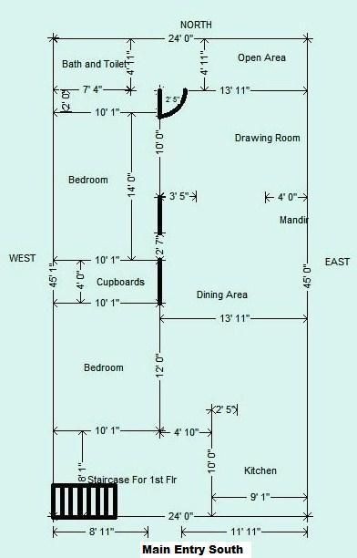 House plan for 45 * 24 ft plot     | Ideas for the House in 2019