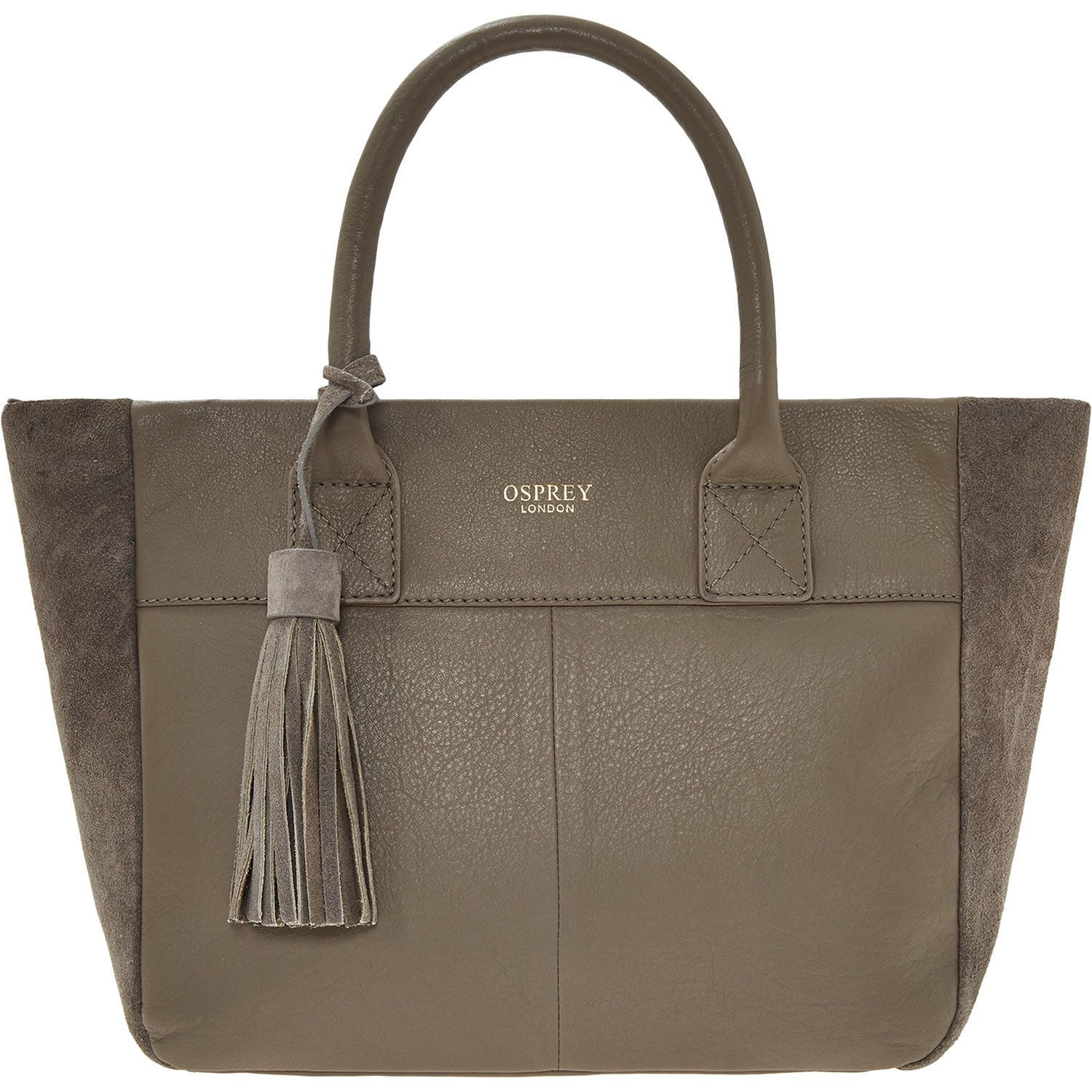 """""""Osprey London"""" Taupe Small Leather Tote Bag TK Maxx"""