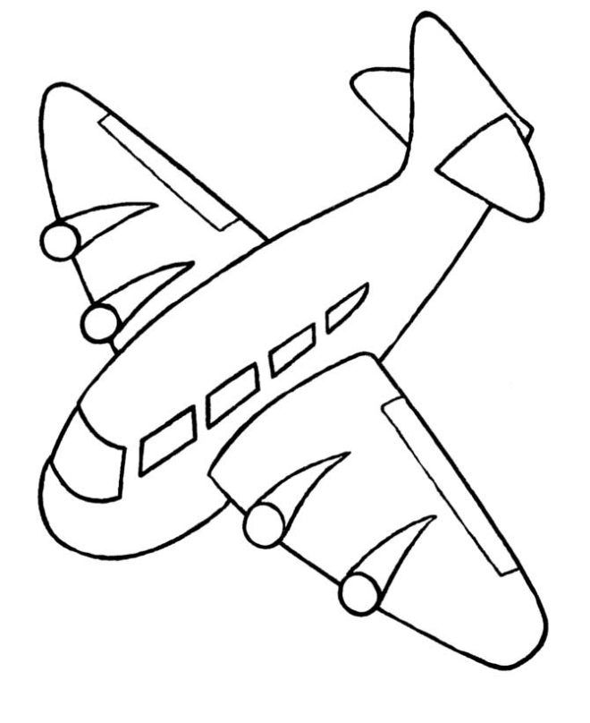 Airplane Coloring Pages For Kids Airplane Coloring Pages Kids Printable Coloring Pages Preschool Coloring Pages