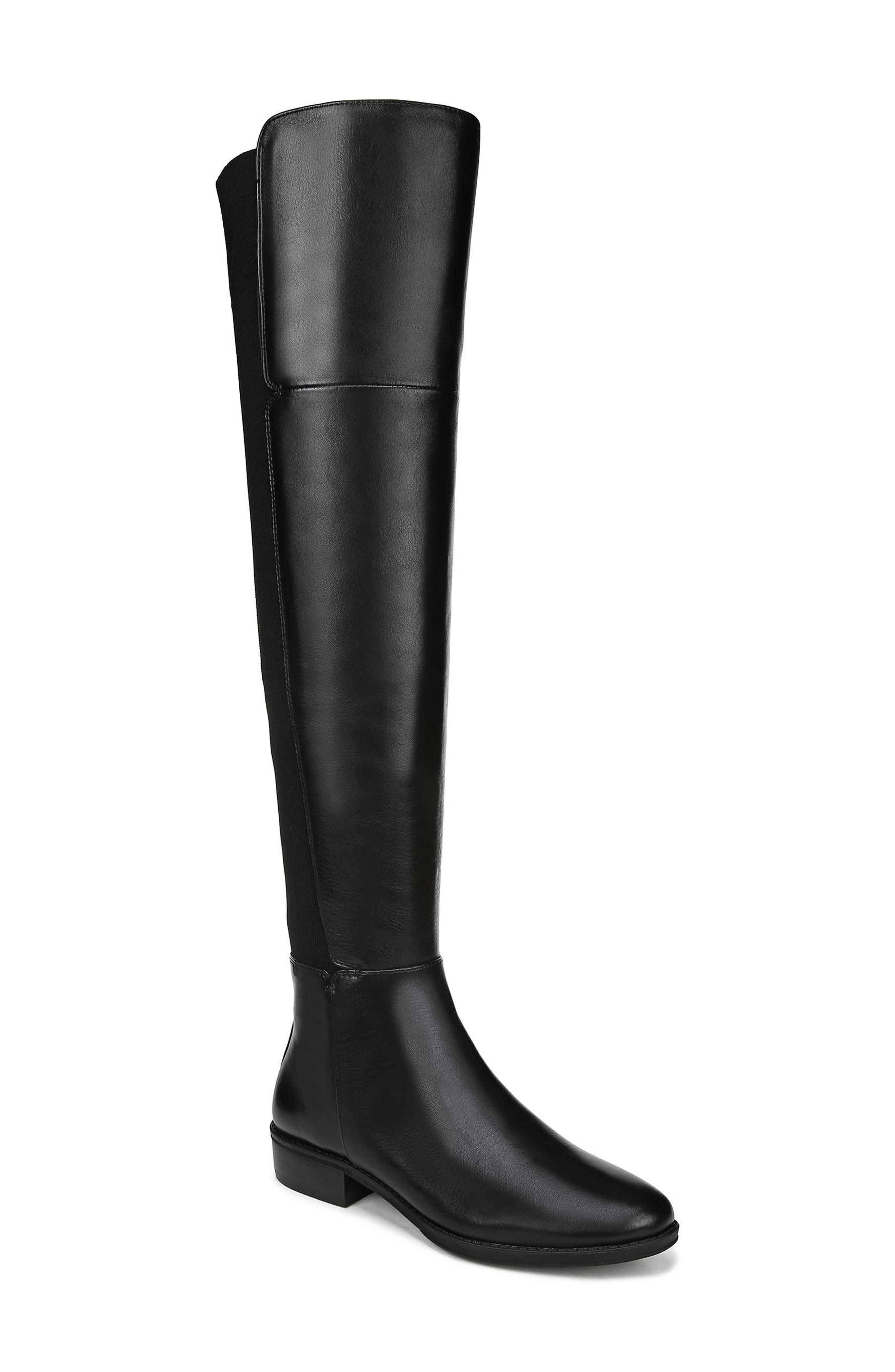 6665f117d63 sam edelman pam black leather over the knee boot