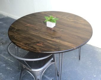36 round hairpin kitchen table industrial table by groveandanchor rh pinterest com