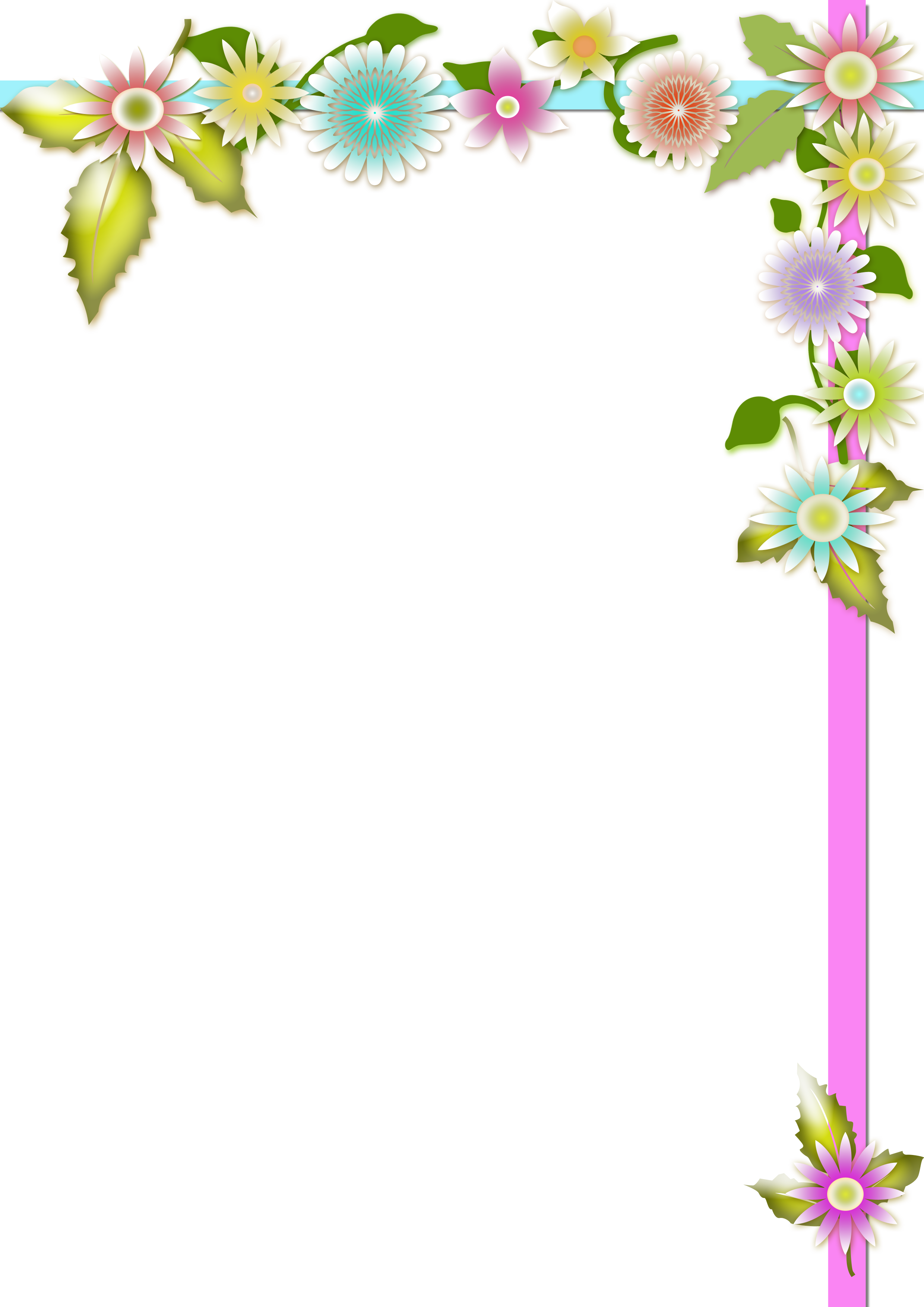 Achtergrond Bloemena4 Png 2480 3508 Floral Border Design Page Borders Design Floral Arrangements Diy