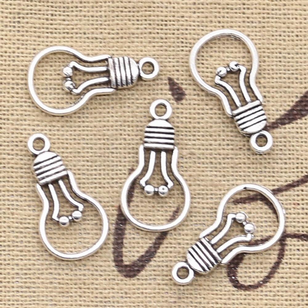 15pcs Antique Silver Heart Charm Pendants DIY Crafts Findings Beads