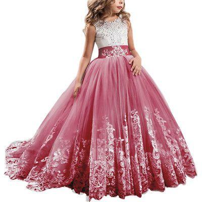 4c47adf17b2 Details about Formal Dress Costume for Kid Flower Girl Dresses ...
