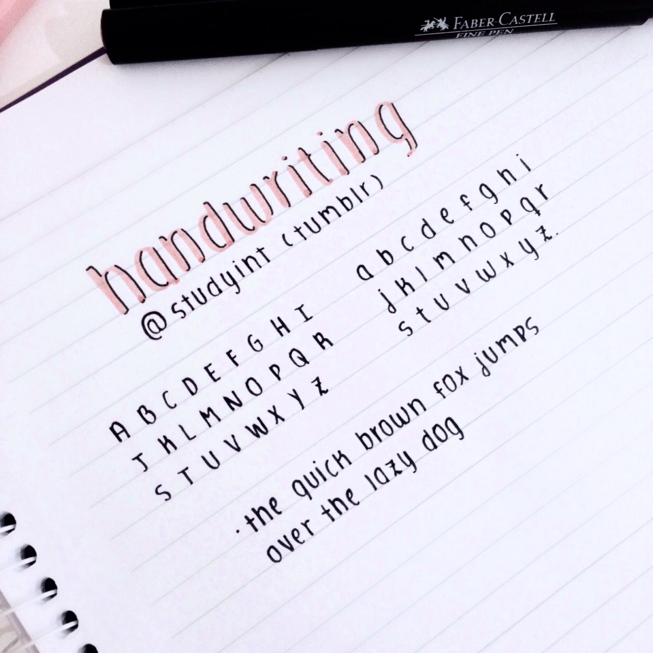 "studyint: "" - ̗̀handwriting sample ̖́- "" 