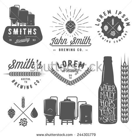 Brewery Clipart Logos Beer Vector Shutterstock Craft
