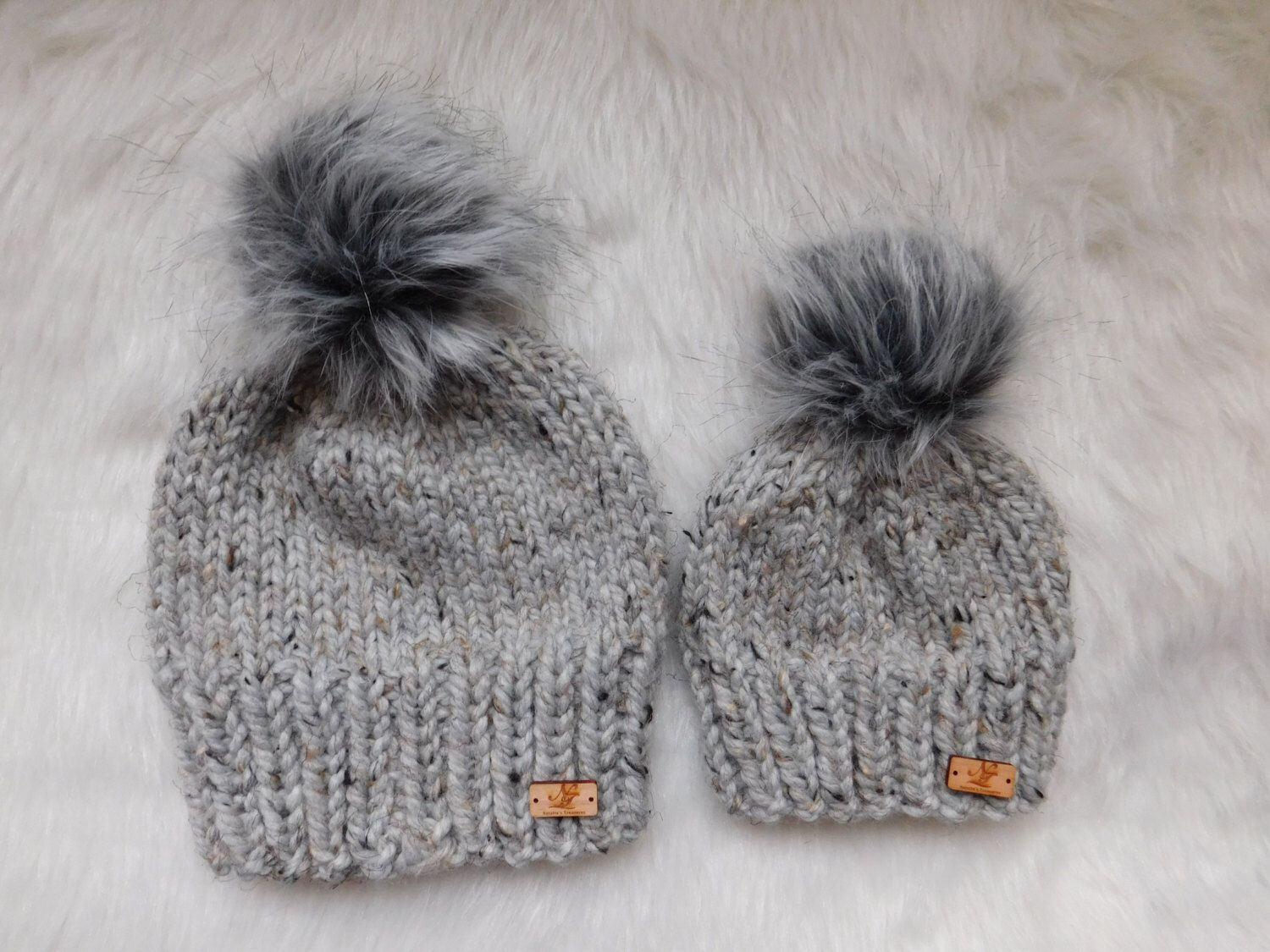 25b0268029db4 Design your own Matching hats whole family. Daddy and me hats. Mommy and me  hats. Dad Mom and Me hats. Hats with pom pom