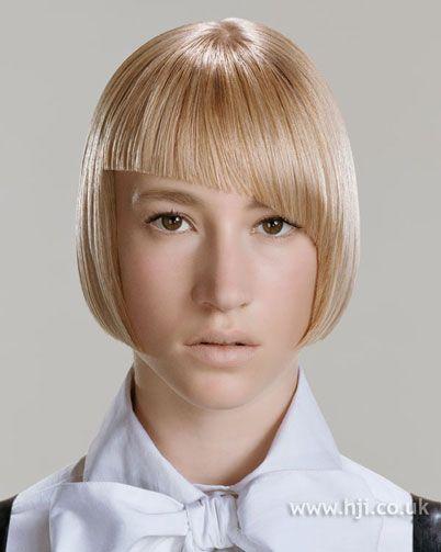 Photo Of 2006 Blonde Asymmetric Hairstyle Face Framing Bangs
