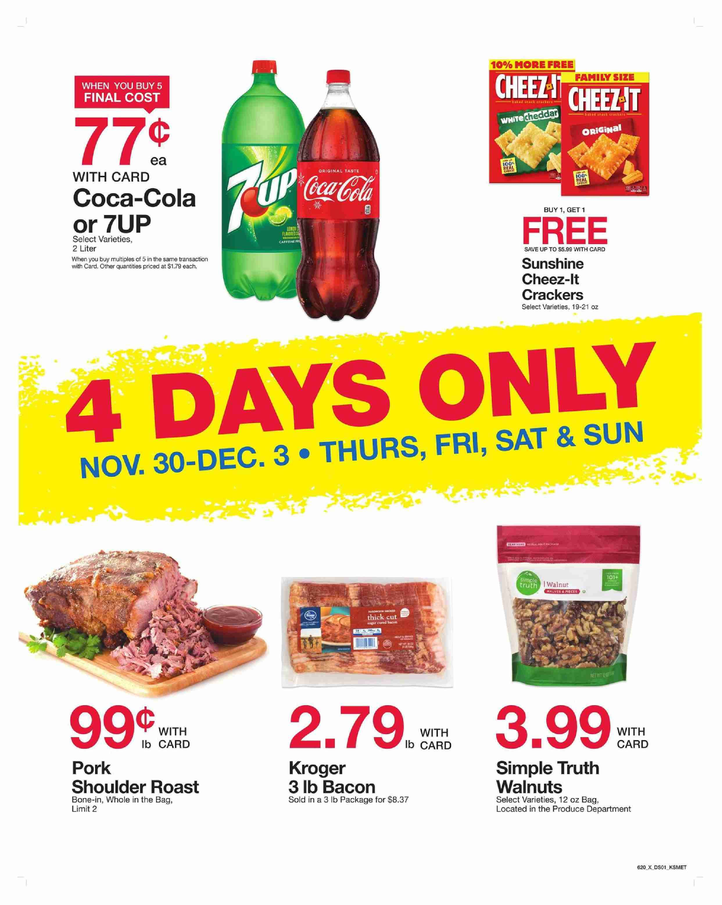 King Soopers 4 Day Sale November 30 - December 3, 2017 - http://www ...
