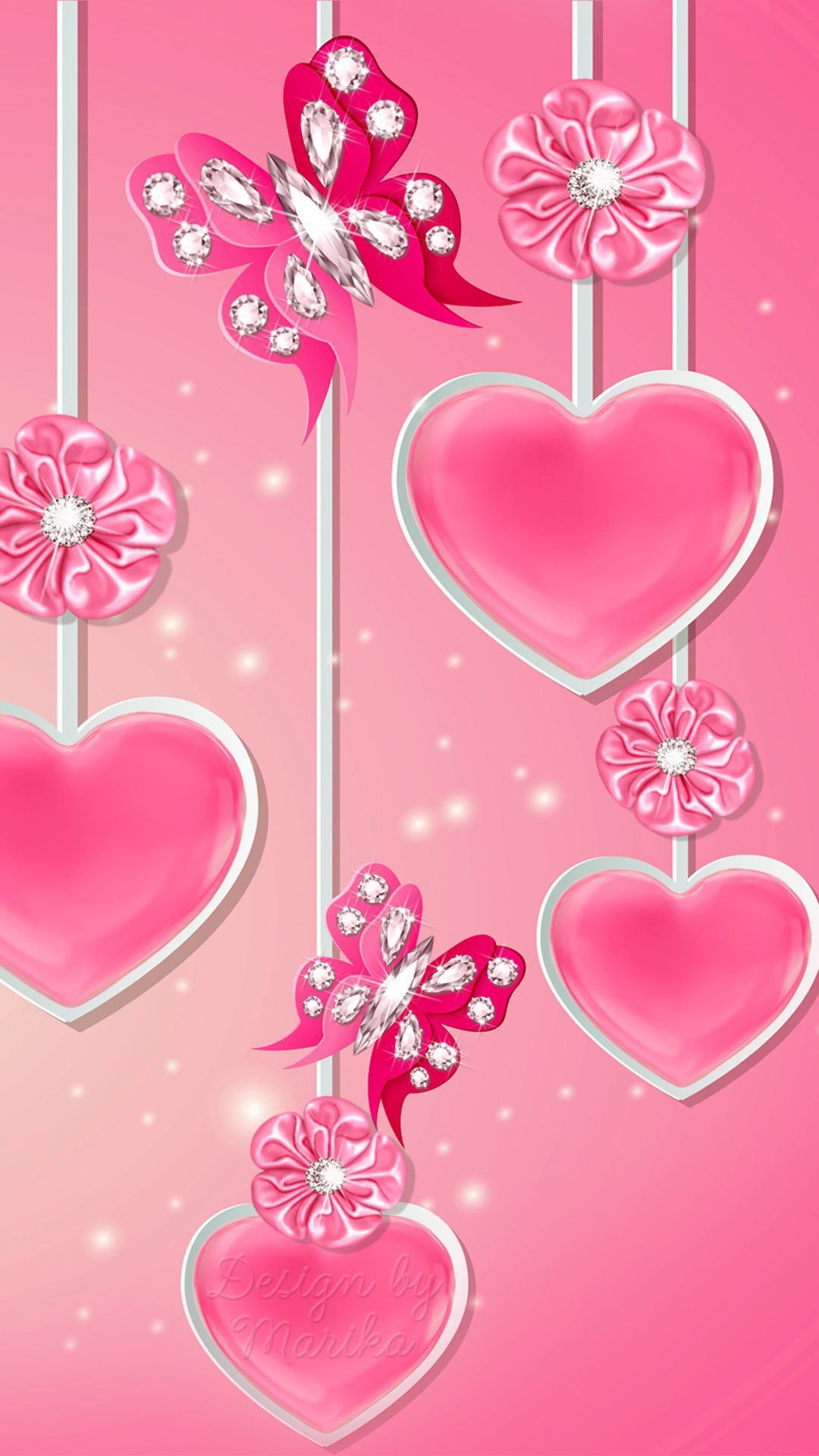 Pin by jennifer hernandez on wallpapers pink wallpaper - Pink roses and hearts wallpaper ...