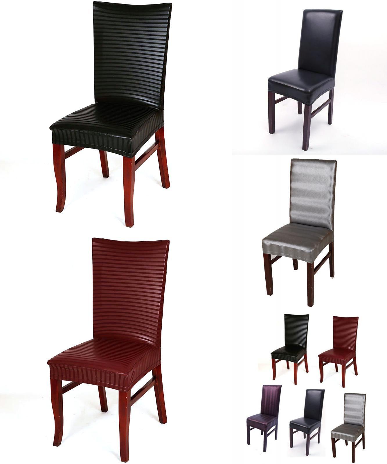 Visit to Buy] leather pu chair cover Elastic stoelhoezen eetkamer ...
