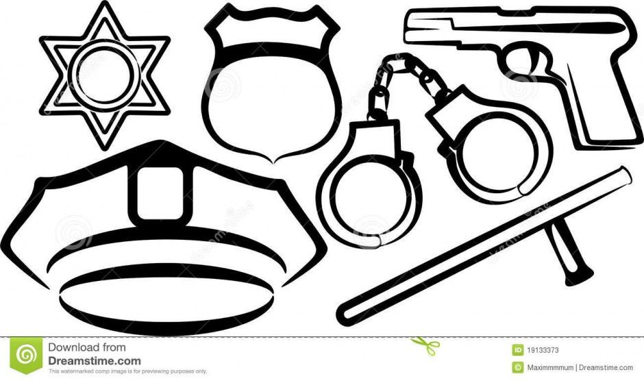 Police Officer Hat Coloring Page
