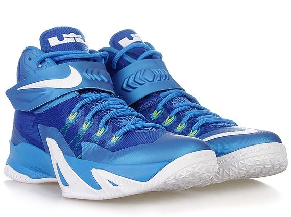 low priced 0dbe7 27f82 Nike Zoom LeBron Soldier 8 - Photo Blue - White - Volt - Hyper Cobalt -  SneakerNews.com