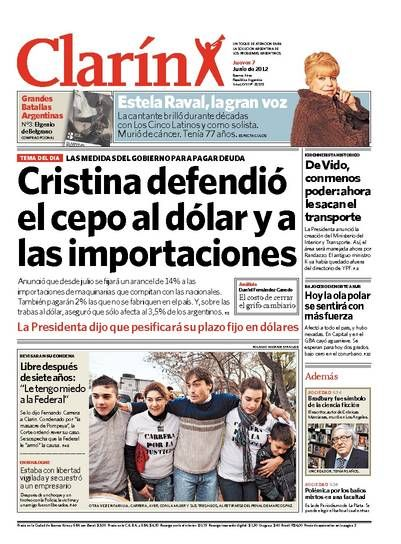Cristina defendió el cepo al dólar y a las importaciones. Más información: http://www.ieco.clarin.com/economia/Gobierno-impone-trabas-importaciones_0_714528569.html