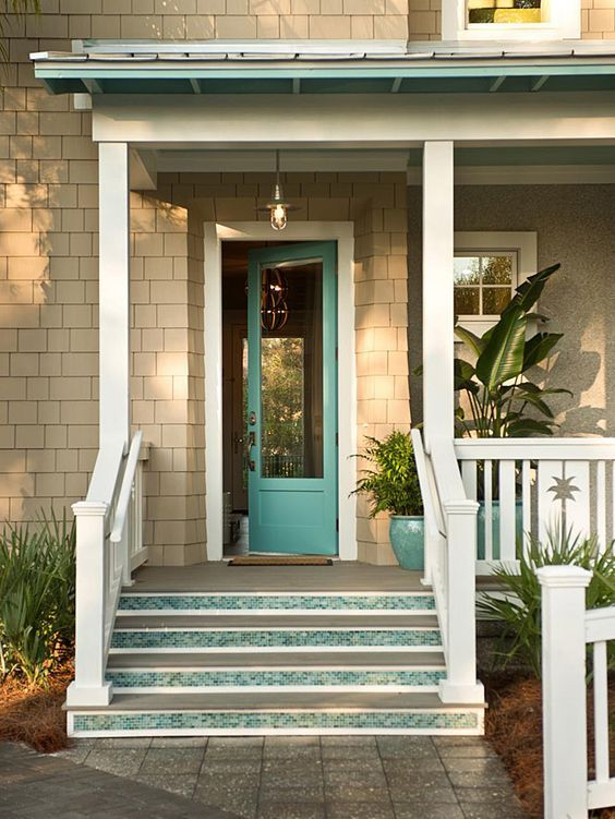 Turquoise and Blue Front Doors – with Paint Colors! | Front doors ...