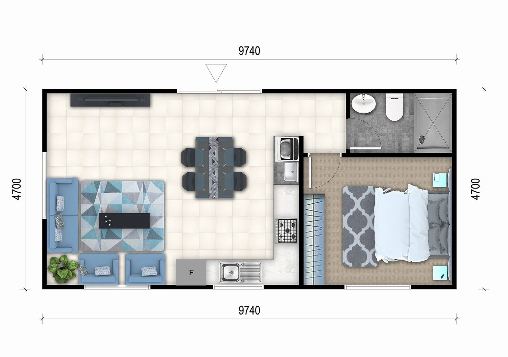 Luxury master bedroom floor plans   Bedroom House Plans with Granny Flat Luxury Granny Flat Floor