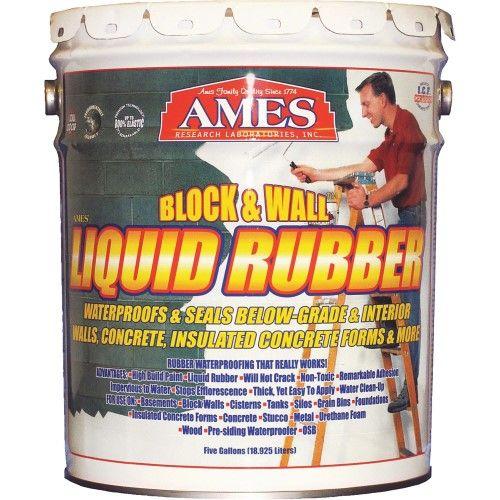 Ames Block Wall Liquid Rubber For Basements And Foundations 5 Gallon White Liquid Rubber Block Wall Liquid Roof