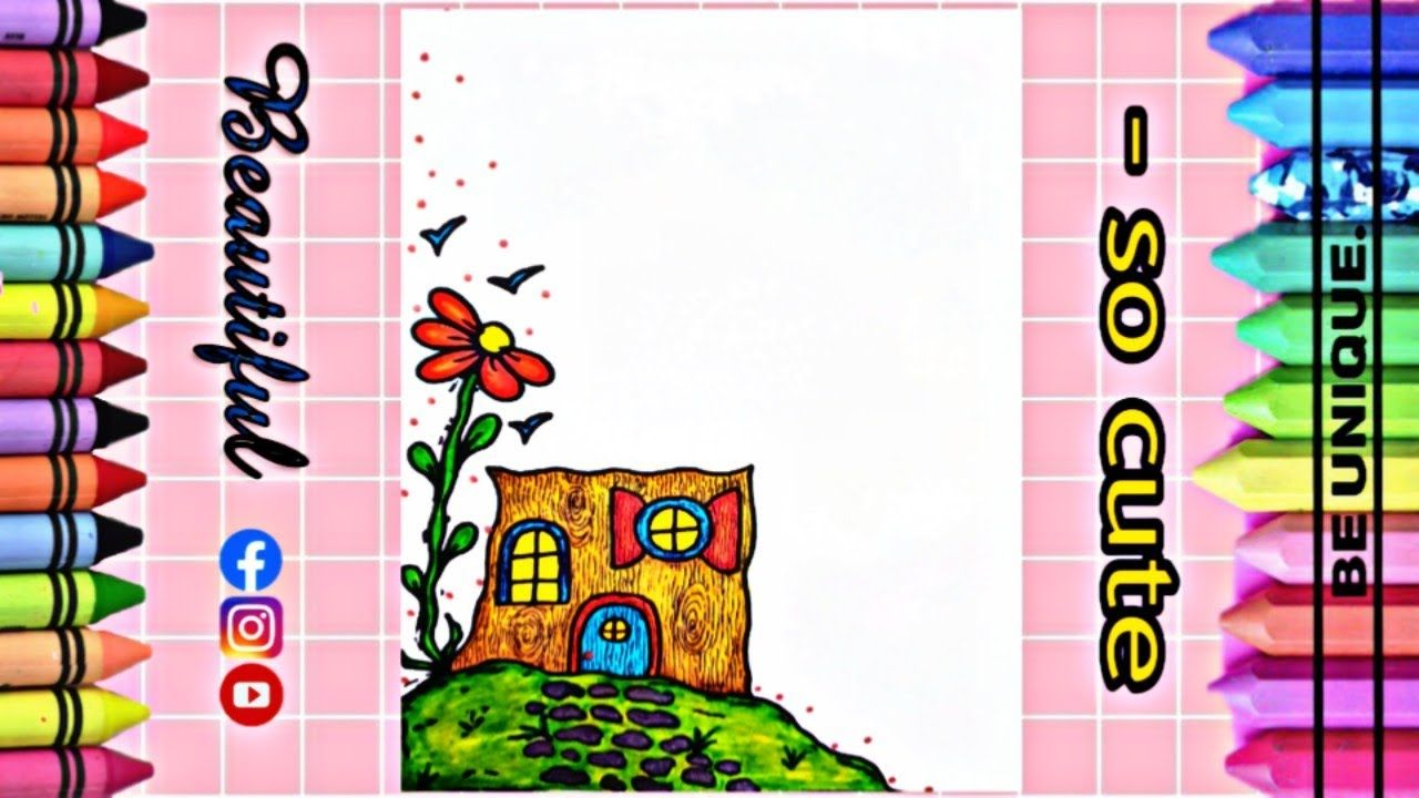 Drawing To Decorate Notebook Tree Trunk تزيين دفاتر مدرسة من الداخل Decorate Notebook Kids Rugs Decor