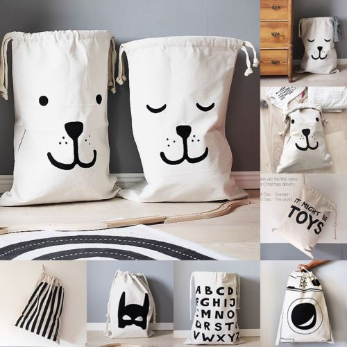 Details About Large Baby Toys Storage Canvas Bags Bear Batman Laundry Hanging Drawstring Bag Toy Storage Bags Baby Toy Storage Bag Storage