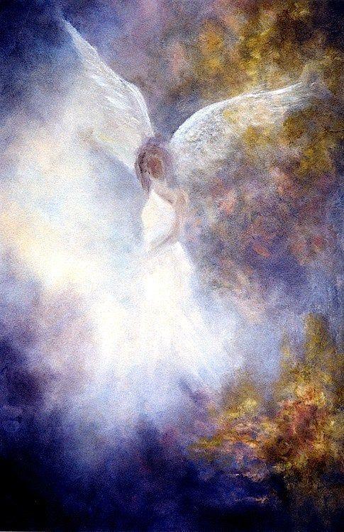 Guardian Angel Print Angel Art Angel Poster Print Spiritual   Etsy