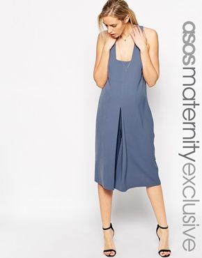ASOS Maternity Jumpsuit In Texture With Wide Leg