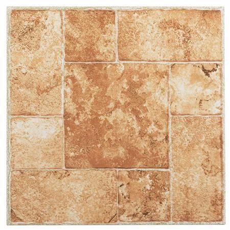 Nexus Beige Terracotta 12 X 12 Self Adhesive Vinyl Floor Tile Walmart Com Vinyl Flooring Vinyl Tile Luxury Vinyl Tile
