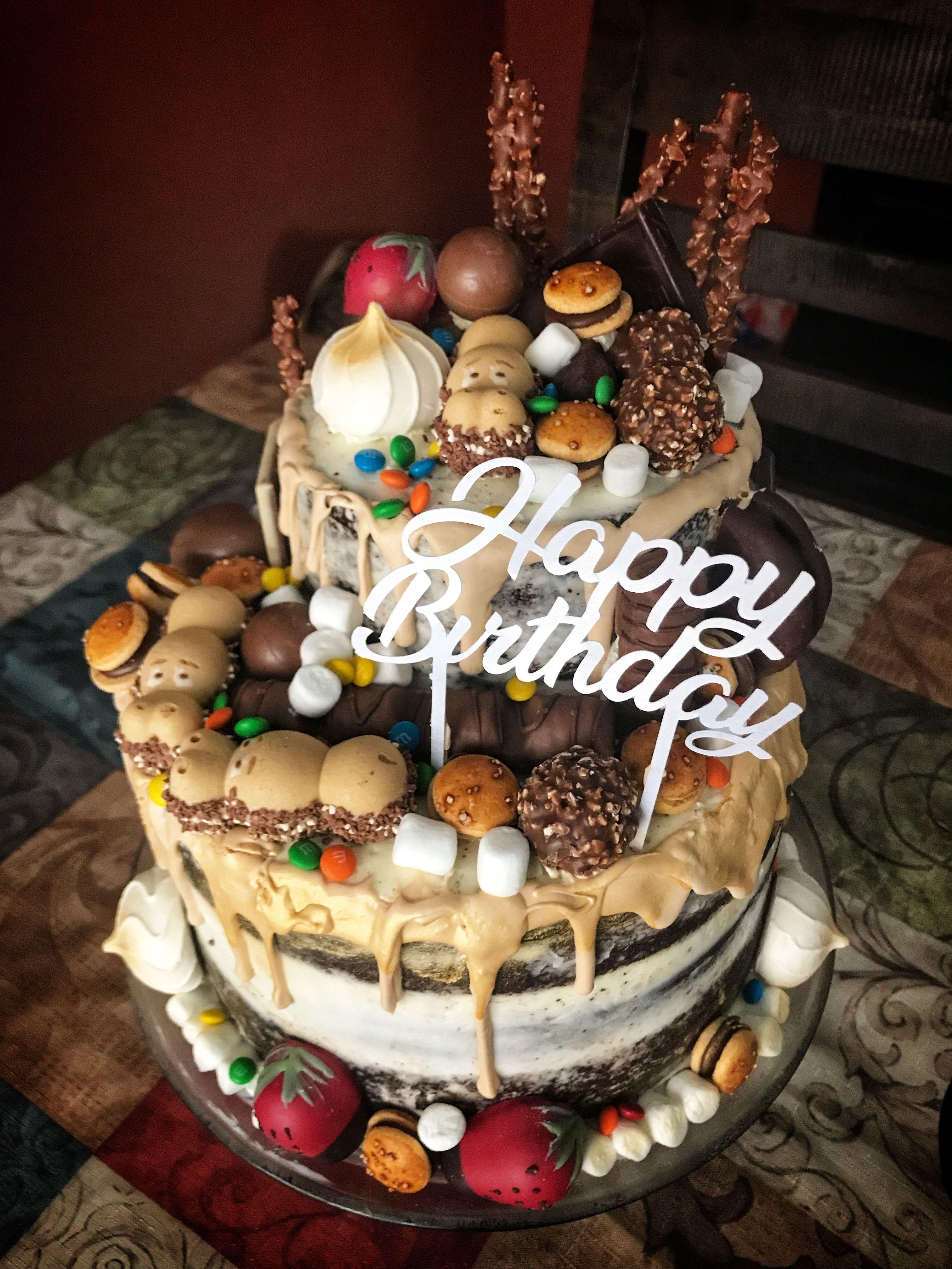 Chocolate Overload On A Chocolate Cake