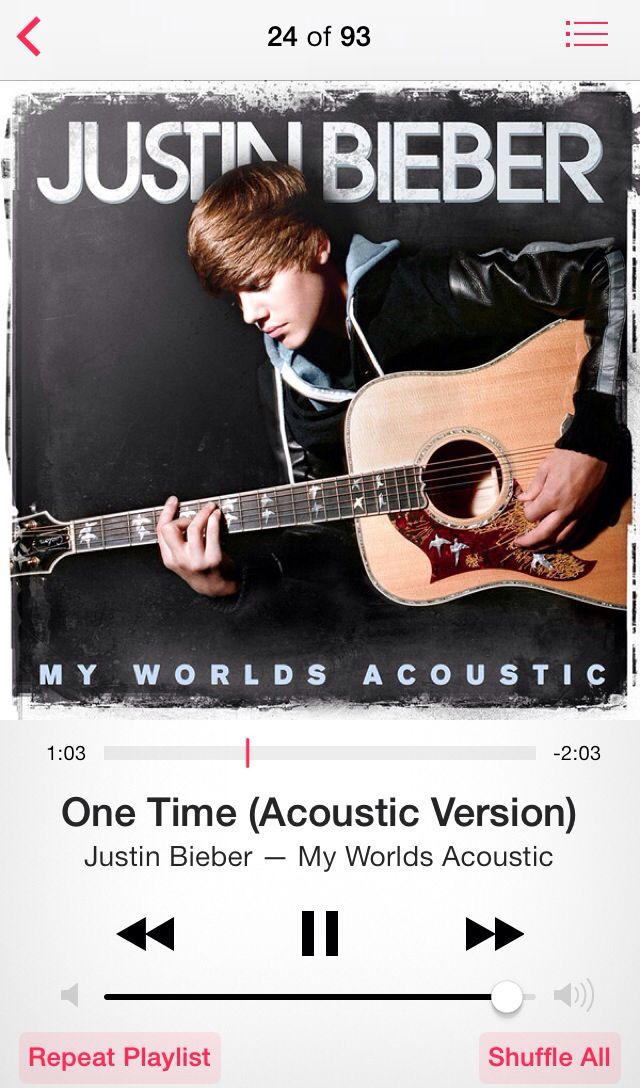 ❤️One Time by Justin Bieber❤ \