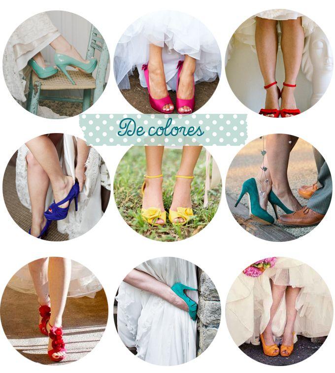 Zapatos de novia de colores | Zapatos para novia, Zapatos para y ...