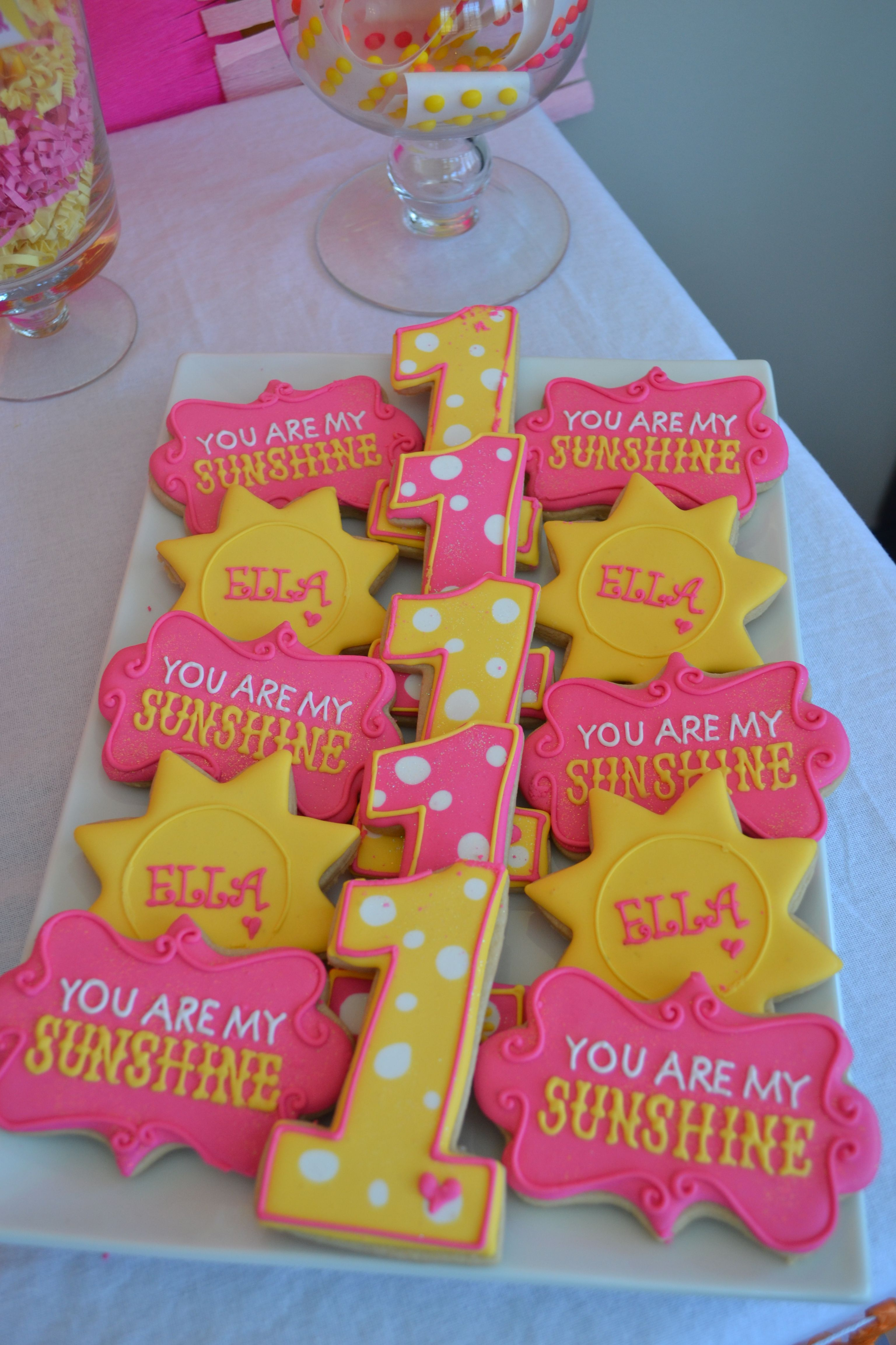 You are My Sunshine Party cookies You Are My Sunshine Party by