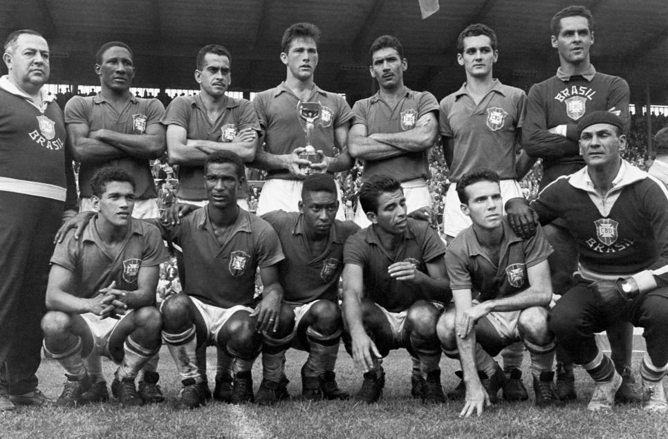 Suède 1958. Vainqueur Brésil. France football, Coupe
