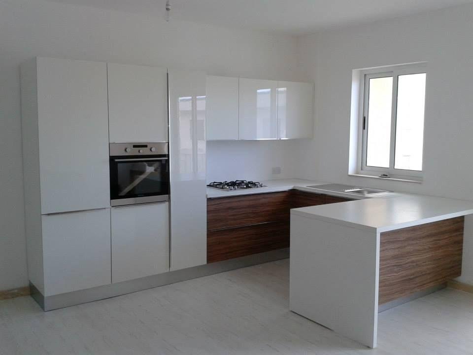 Cucina miton mt400 palissandro mt706 laccato bianco lucido mt top laminato cucine kitchen - Cucina laccato bianco ...