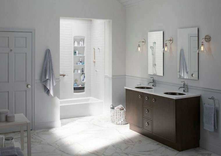 Bagno Design Scandinavo : Arredare il bagno in stile scandinavo arredo bagno bianco