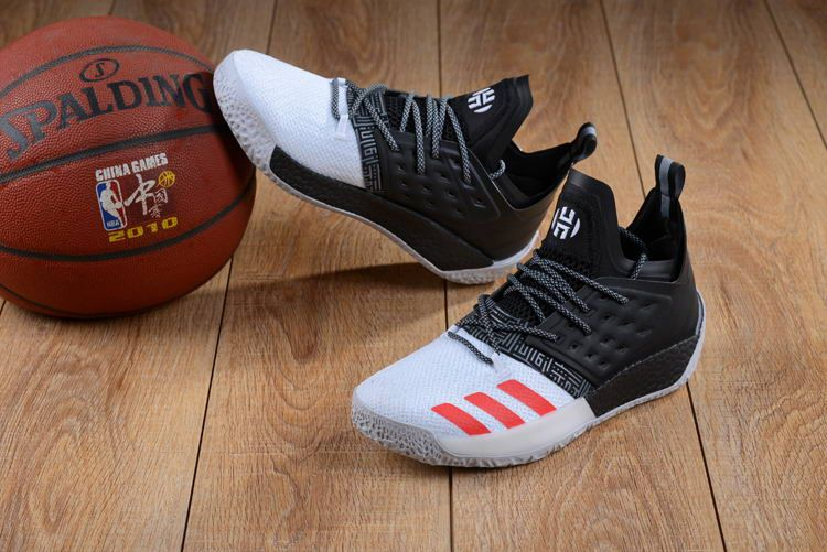 cd94bf24623df adidas Harden Vol. 2 Black White Red Shoes   heat in 2019   Shoes ...