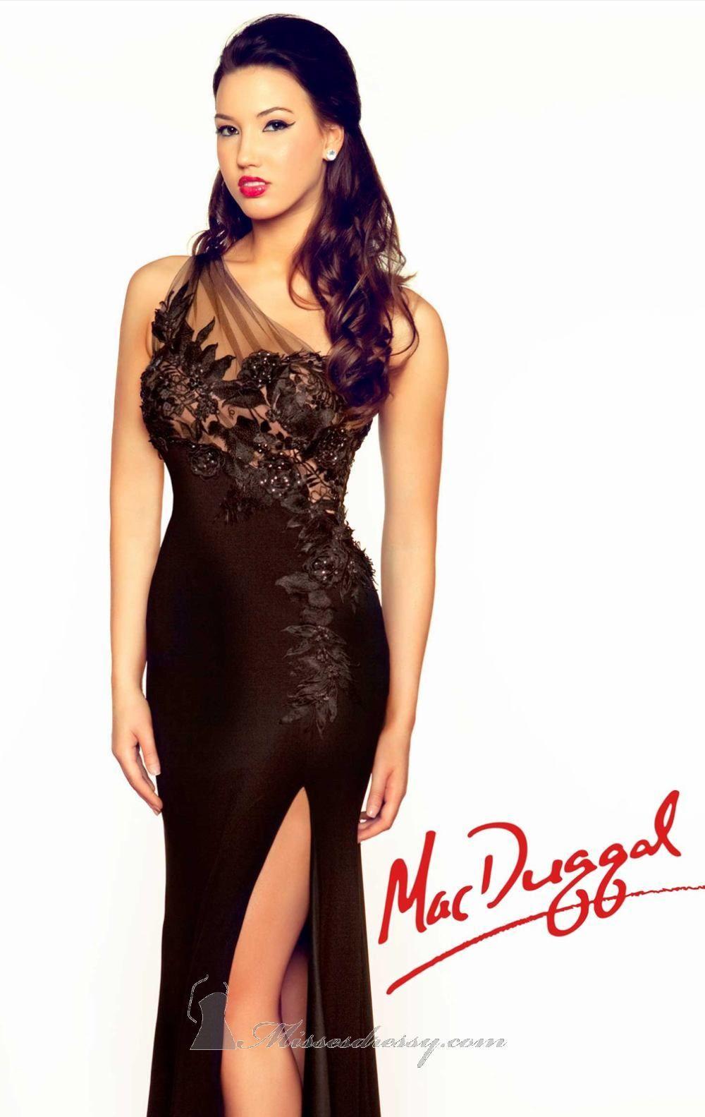 Mac duggal r by mac duggal black white red dream dresses