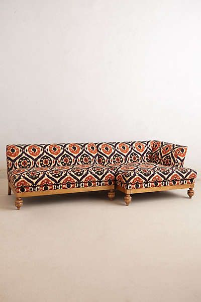 Fabulous Ikat sectional sofa by Anthropologie. Perfect for the luxury-loving Bohemian.