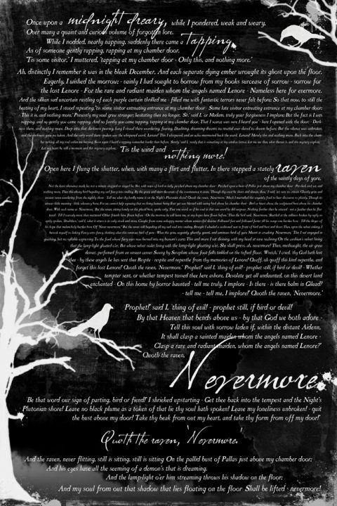 "Photo of book inspired Halloween mantle decor & ""The Raven"" freeprintable – It's Always Autumn"
