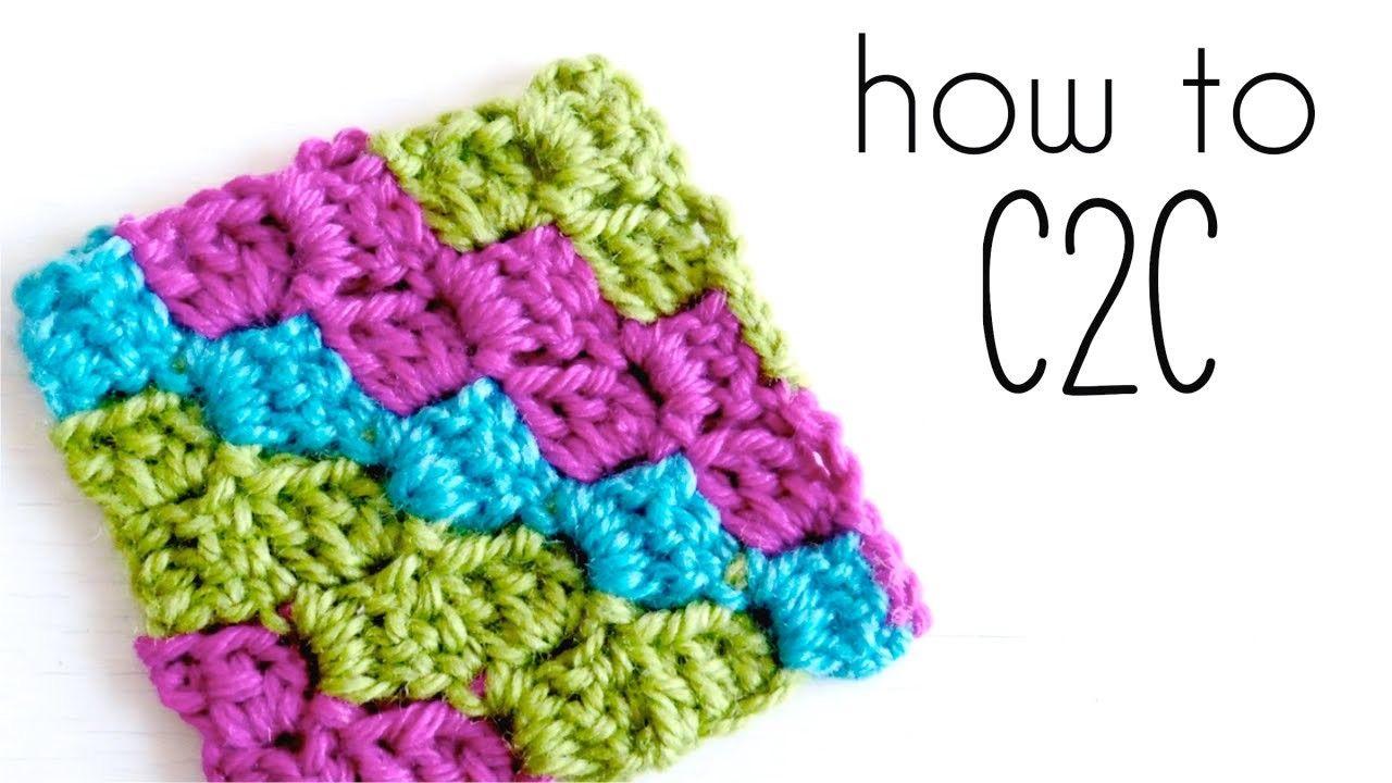 How to crochet C2C - Corner to Corner Tutorial | Elefanten ...
