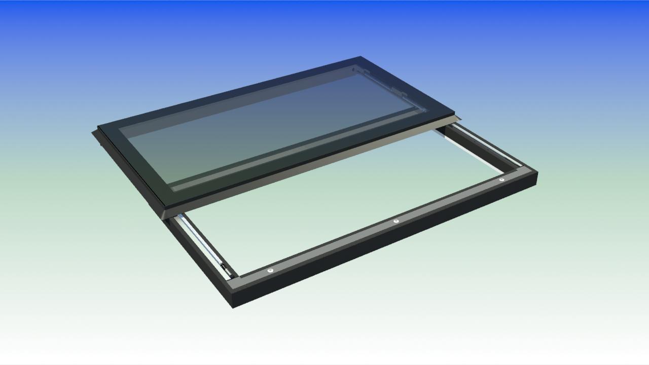 Slider Image Flat Roof Skylights Roof Skylight Retractable Pergola