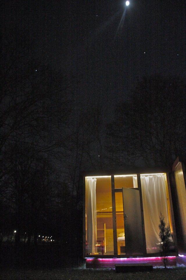 A night spent in a Scube, under the stars, in Berlin.