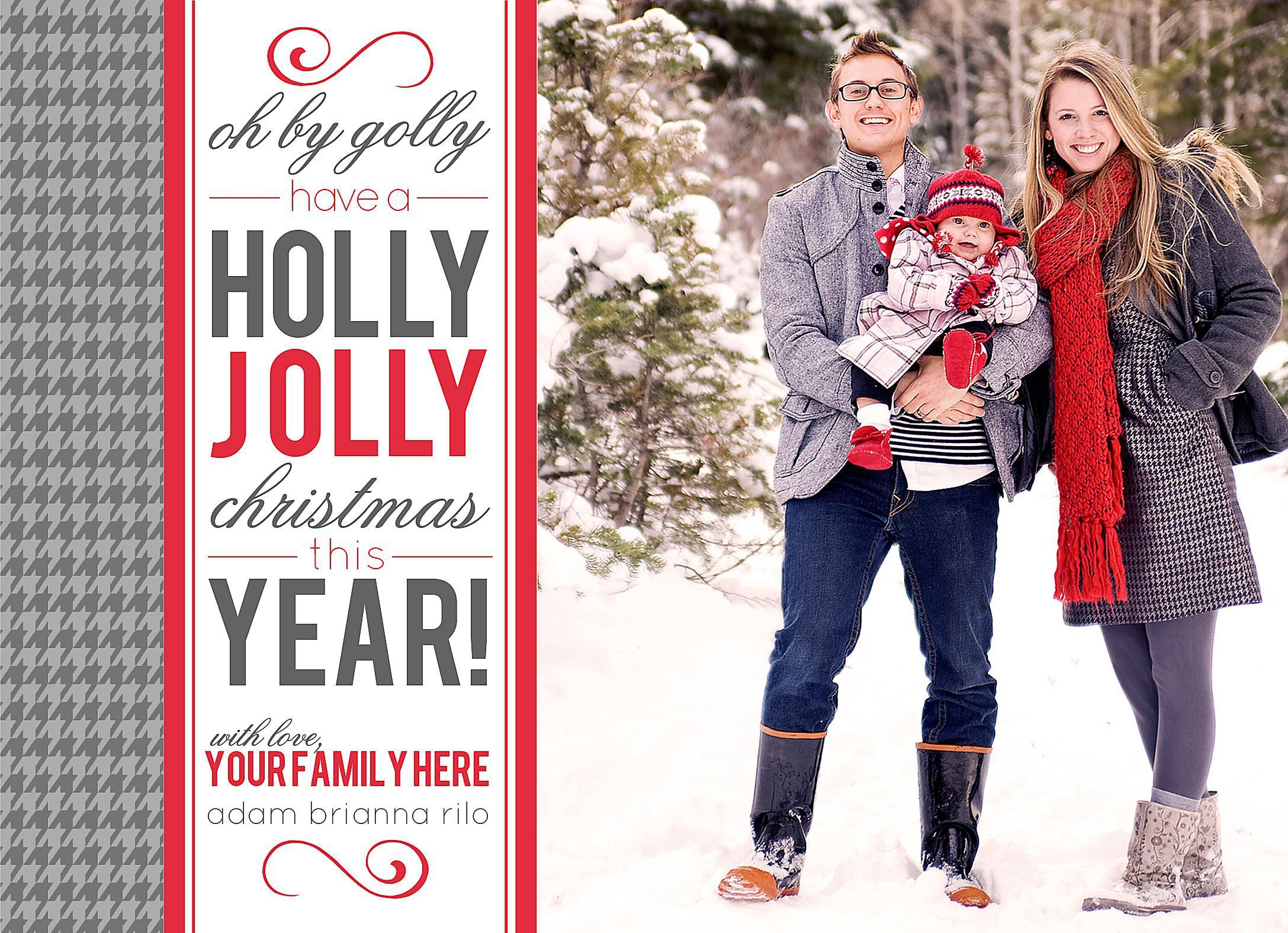 A Gray And Red Modern Christmas Card Template Christmas Cards Free Holiday Photo Cards Template Free Christmas Photo Card Templates