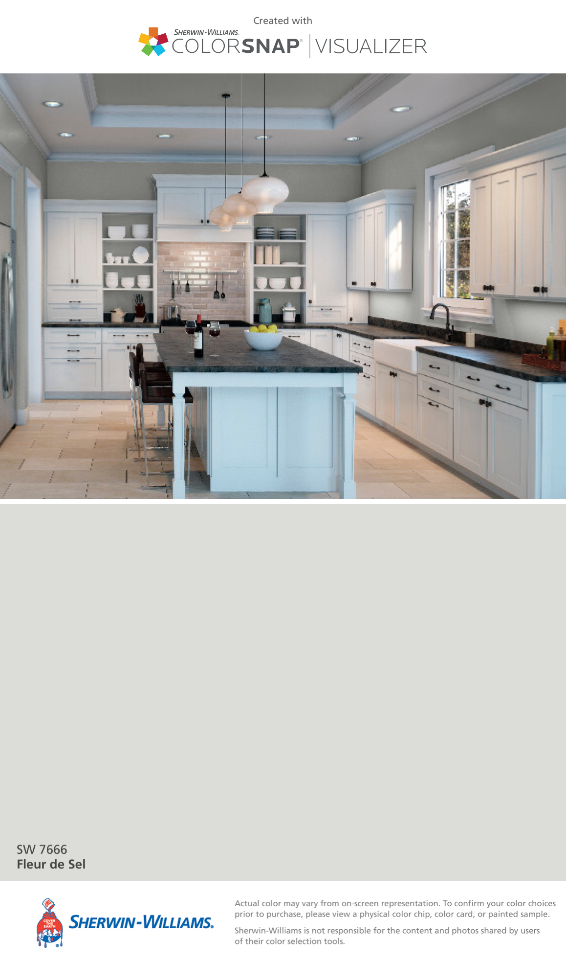 I Found This Color With Colorsnap Visualizer For Iphone By Sherwin Williams Fleur De Sel Sw 7666 Sherwin
